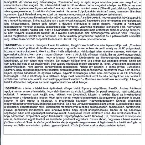 EUROPA A POLGÁROKÉRT- projekt partnerskej obce Szanda